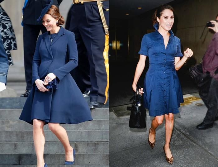 Как Меган Маркл копировала стиль Кейт Миддлтон до свадьбы с принцем