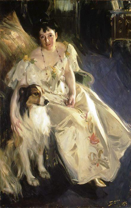 8 Андерс Цорн. Миссис Уолтер Рэтбоун Бейкон, 1897, 170.8×108 см • Масло, Холст (441x699, 191Kb)