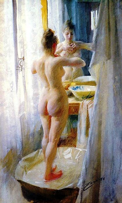 16 Андерс Леонард Цорн (1860-1920) Ванная комната 1888 (420x700, 356Kb)