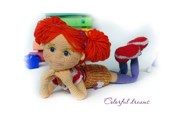 Вязаная крючком очаровательная куколка Тоня (600x375, 117Kb)
