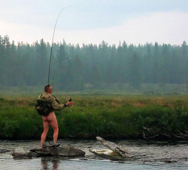С женой на рыбалке. Ржач!