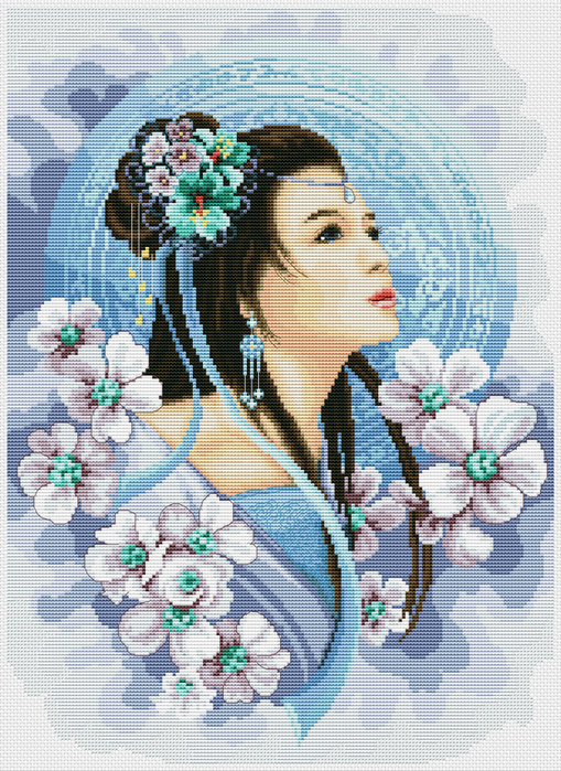 Lady in Blue (509x700, 575Kb)
