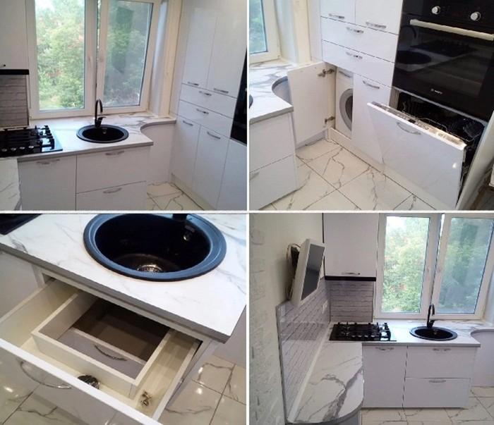 143764914 091718 1231 2 Как с комфортом обустроить маленькую кухню в «хрущевке»