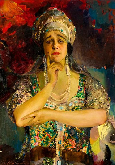 плевицкая 4 Ф.А. Малявин. Портрет Надежды Плевицкой, 1929 (487x700, 503Kb)