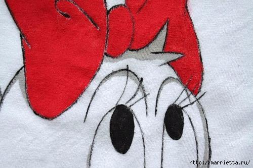 Рисунок на футболке акриловыми красками (10) (500x333, 152Kb)