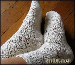 Ажурные носочки спицами схема 55