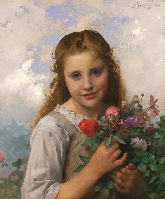 1385207632-leon_jean_basile_perrault_b1151_petite_fille_au_bouquet_de_fleurs1 (580x700, 301Kb)