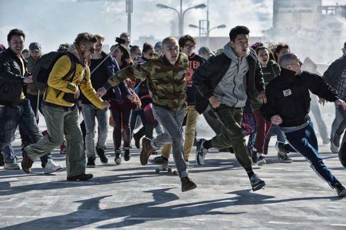 Видео «Притяжения», фильма об инопланетянах в Москве
