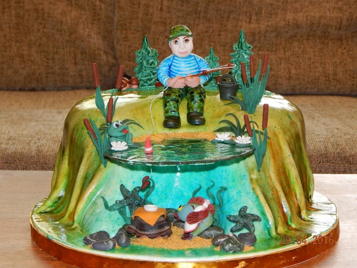 торт на тему рыбалка картинки погребняк опубликовала снимок