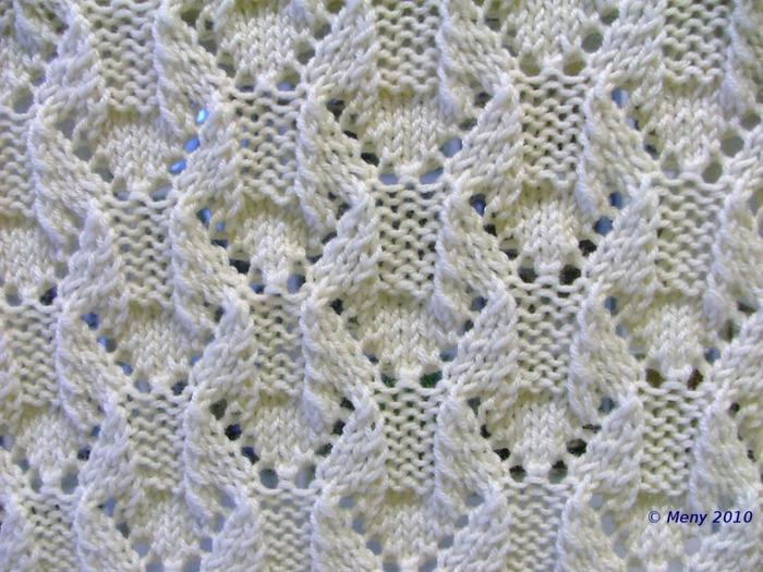 вязание простой ажурный
