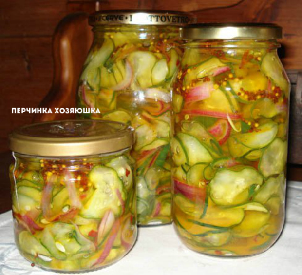 Салат из огурцов на зиму интересное в блогах