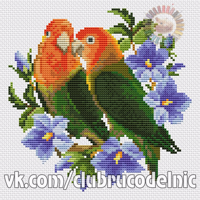 Lovebirds (700x700, 772Kb)