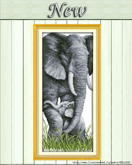 elephant-mother-and-son-baby-animal-counted (560x700, 206Kb)