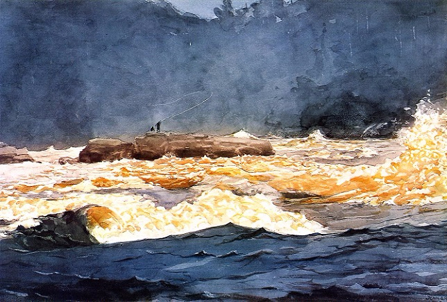 Fishing the Rapids, Saguenay,1902 (644x435, 392Kb)