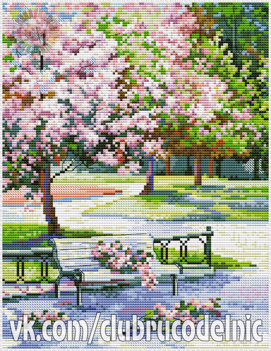 Spring in the Park (542x700, 733Kb)