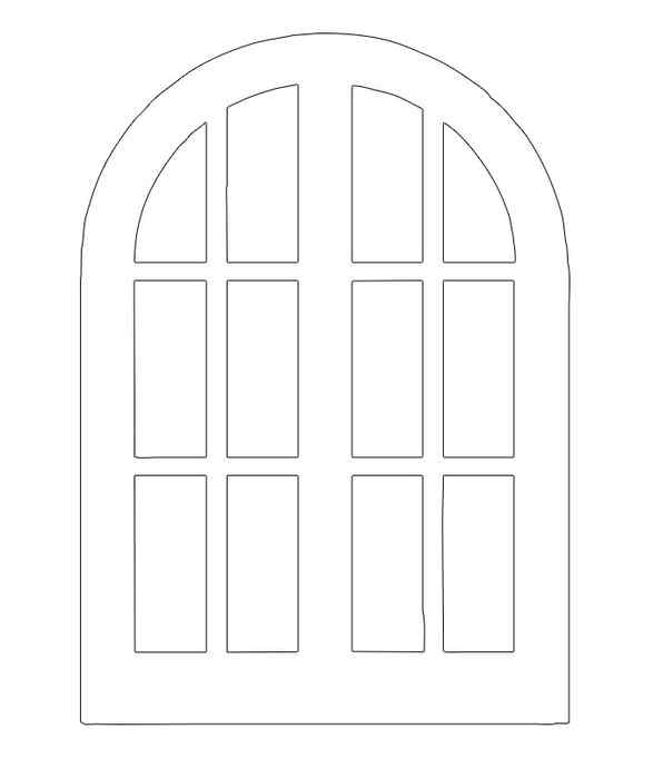 Анимация, картинки окна для домика из картона