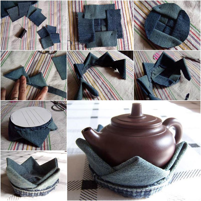 DIY-Lotus-Flower-Teapot-Coaster-from-Old-Jeans (700x700, 509Kb)