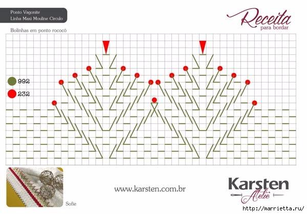 Вышиваем бордюры на полотенце. Схемы (6) (600x418, 139Kb)