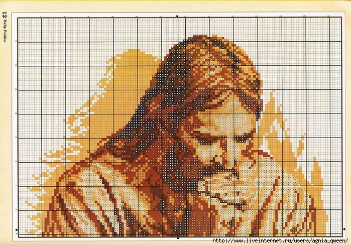 для вышивки христос схема иисус