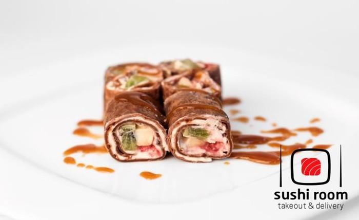 Чудеса кулинарии: Шоколадные роллы с персиковой начинкой