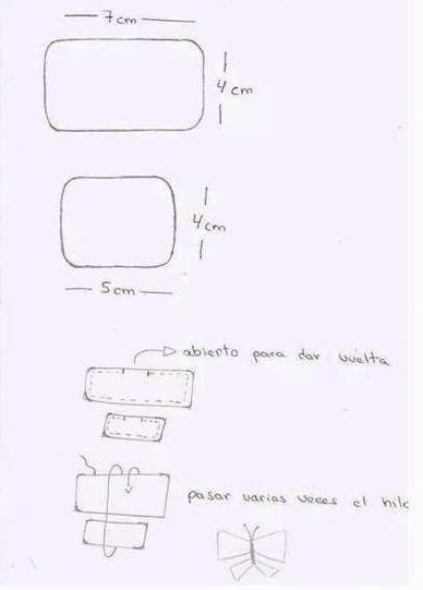 Бабочка из ткани для украшения детской одежды (2) (388x541, 73Kb)