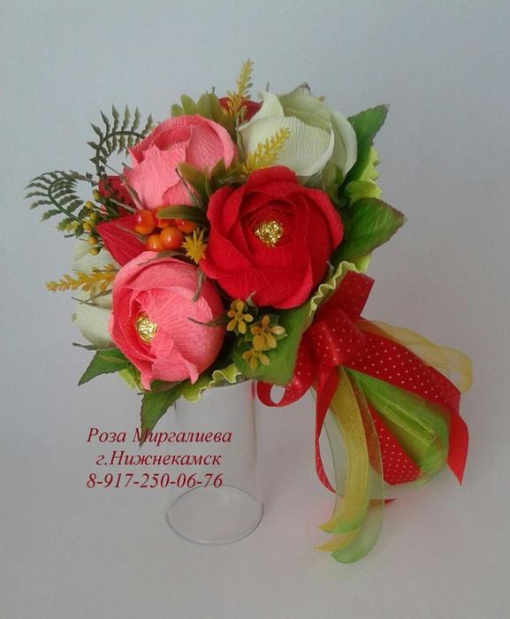 Цветы, мини букеты из конфет на 1 сентября
