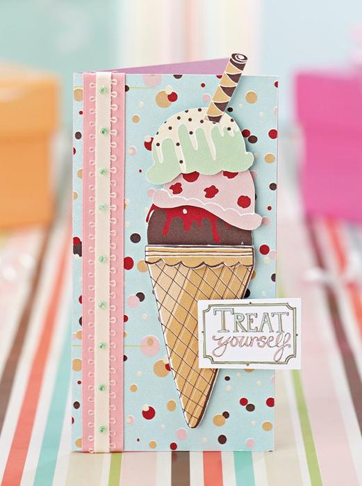 Сердечки веселые, открытка мороженое своими