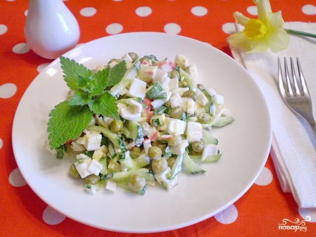 Салат из крабового мяса диетический