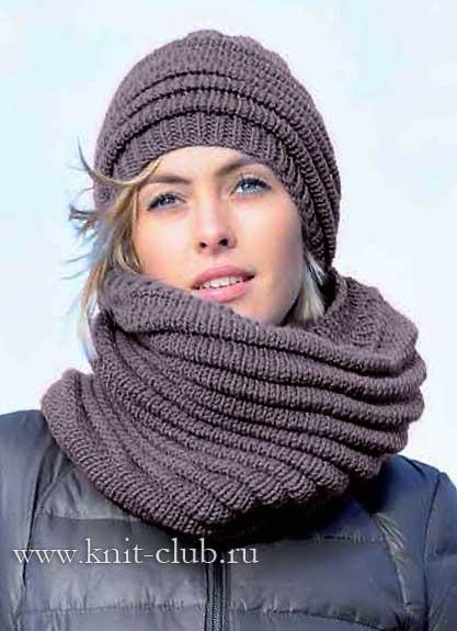 вязаные шарфы спицами самое интересное в блогах