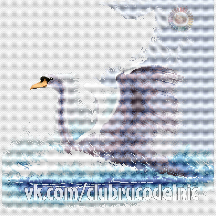 Swan in flight (700x700, 601Kb)
