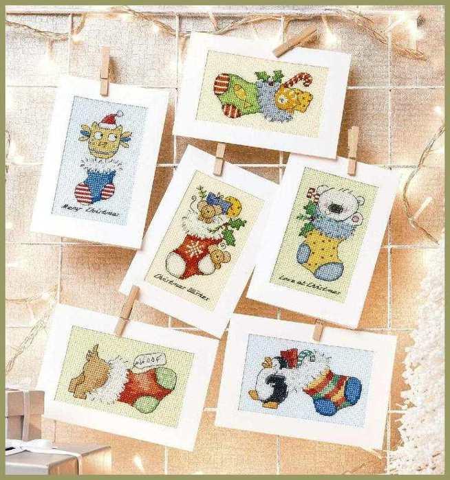 Вышивка идеи для открытки, картинки