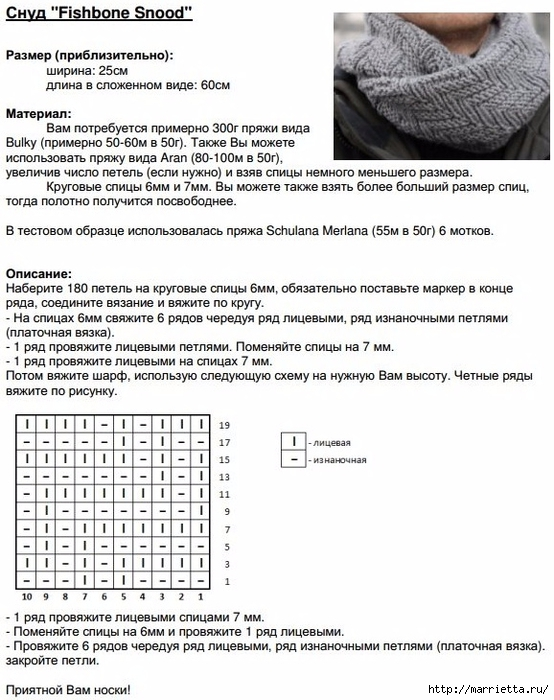 Мужской СНУД спицами. Описание (6) (554x700, 272Kb)