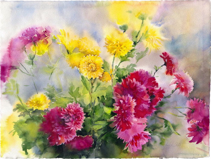 autumn_chrysanthemums_by_olgasternik-d9j7bd2 (700x526, 534Kb)