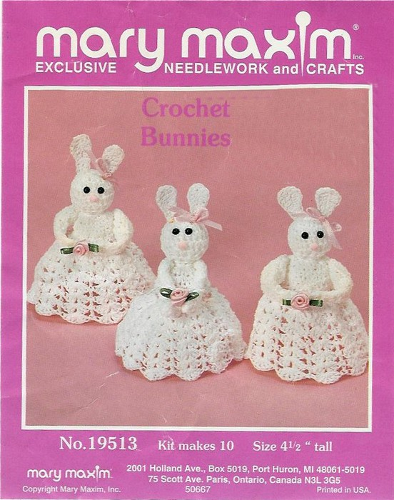 Thread Easter Bunnies Pic (552x700, 115Kb)