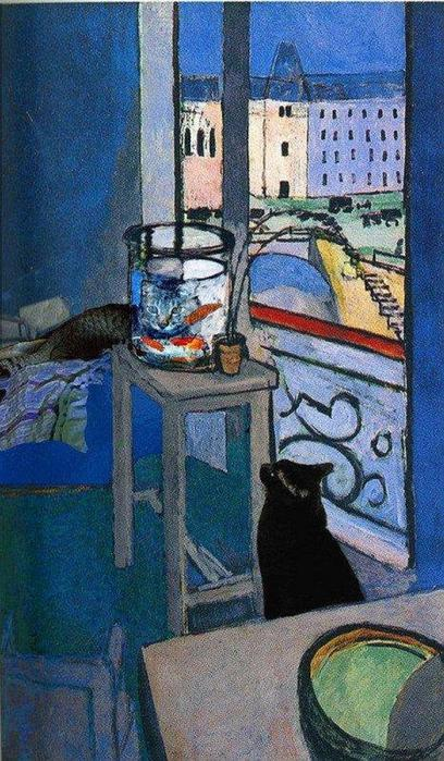 Henri Matisse (1869 –1954) - Goldfish with Cats (408x700, 80Kb)