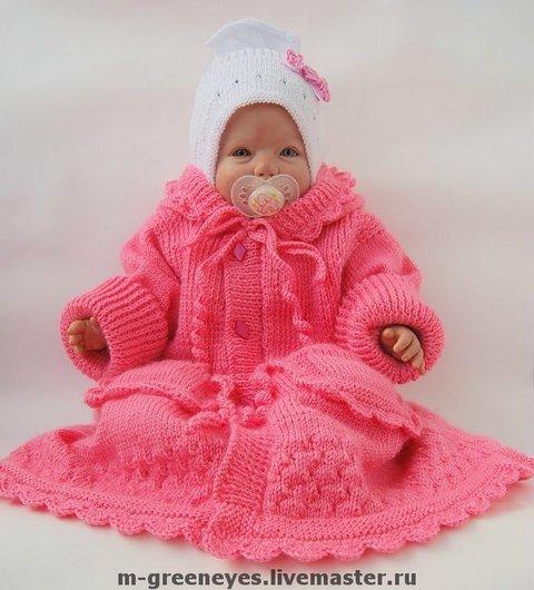 вязаное пальто для девочки самое интересное в блогах