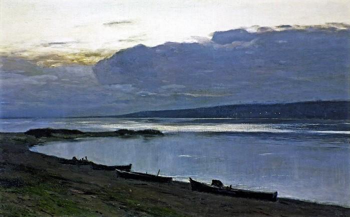 Вечер на Волге 1888 (700x434, 82Kb)
