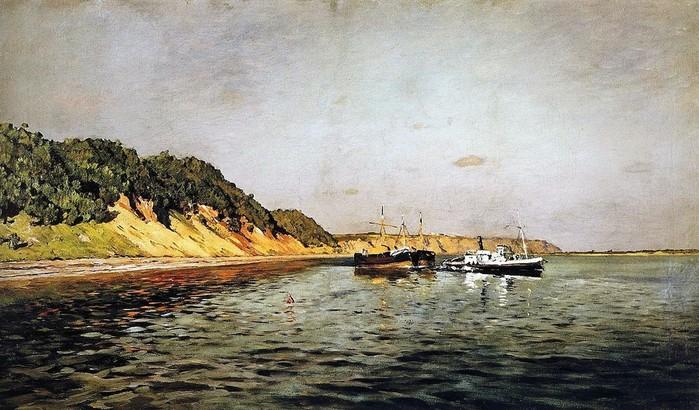 Волга. Тихий день 1895 (700x410, 113Kb)