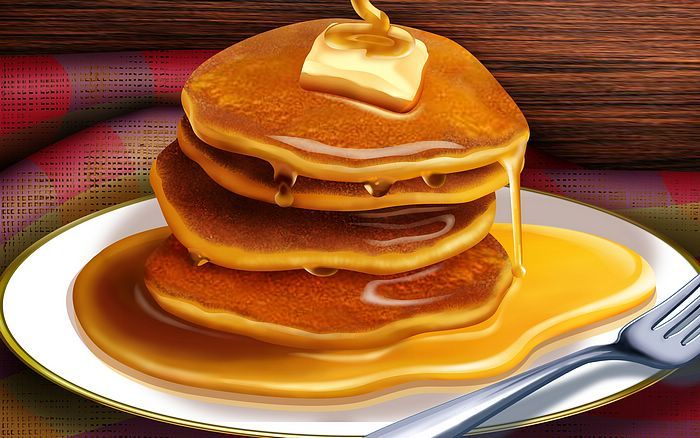 Garry High. Pancakes and Maple Syrup (700x438, 68Kb)