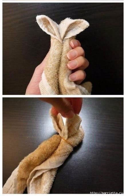Пасхальный кролик из полотенца. Мастер-класс (7) (440x682, 127Kb)