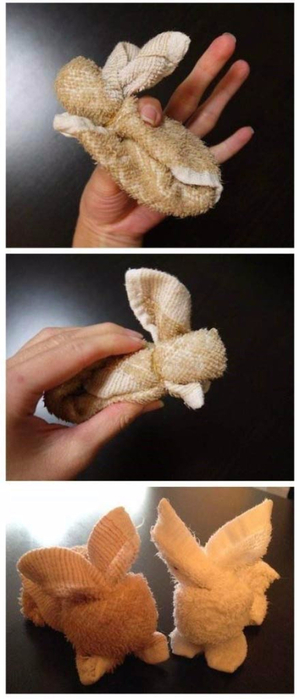 Пасхальный кролик из полотенца. Мастер-класс (9) (300x700, 184Kb)