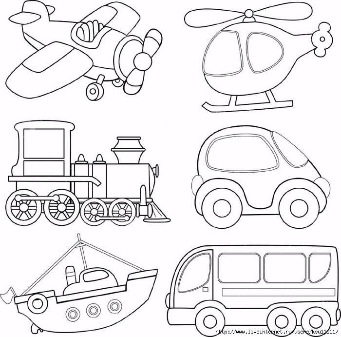 раскраска транспорт обсуждение на Liveinternet российский