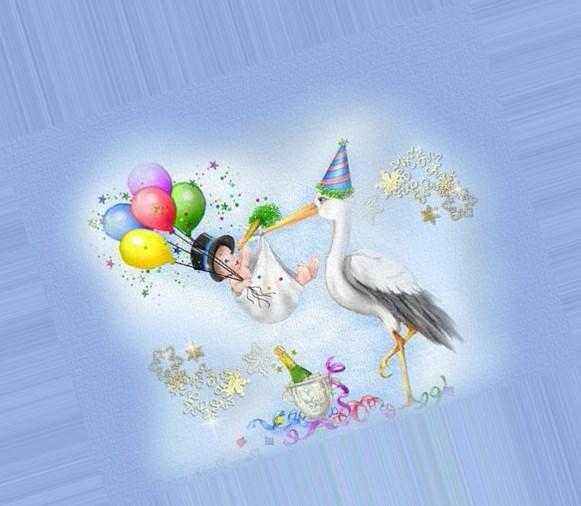 Радугой, с прибавлением в семье открытка такса и аист