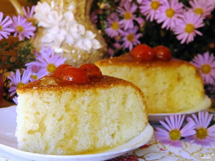 Ленивый пирог с вареньем на скорую руку на сметане 4