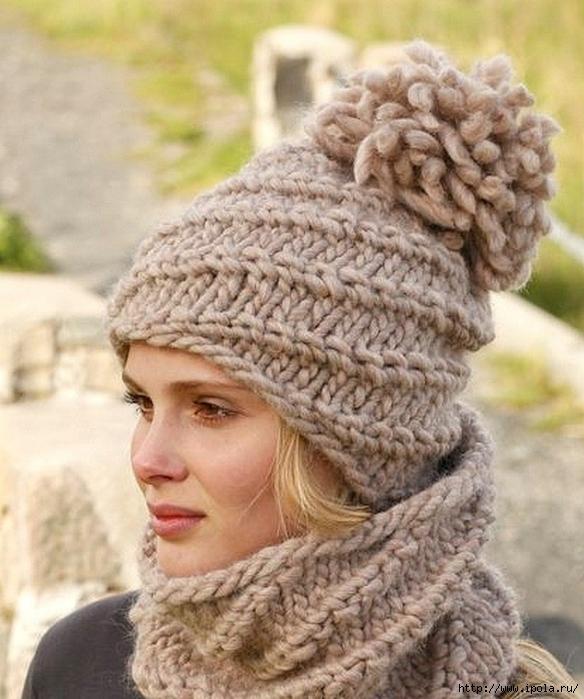 модные вязаные зимние шапки 2017 года обсуждение на Liveinternet