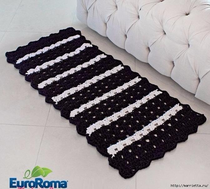 бесплатные схемы крючком коврики