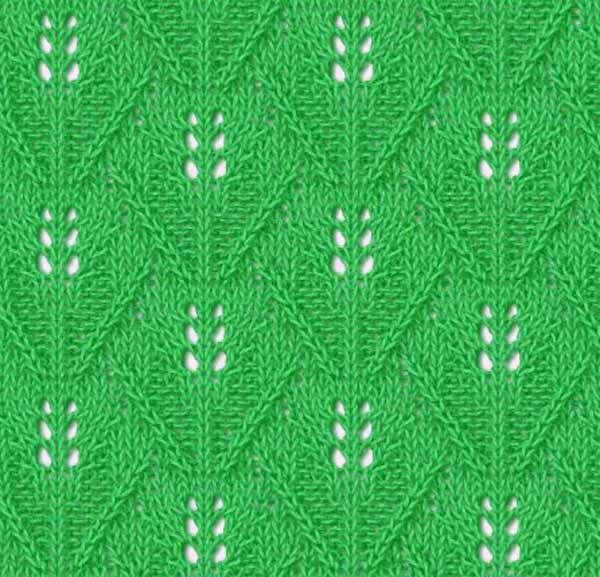 красивые ажурные узоры для вязания