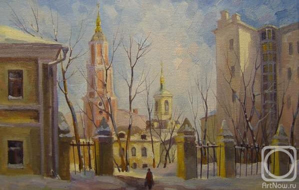 Москва. Кривоколенный переулок (598x379, 136Kb)