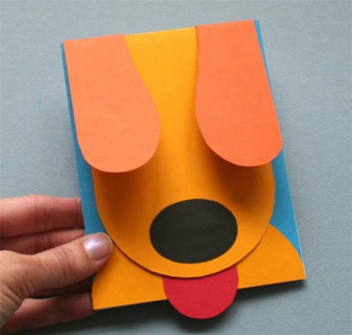 Как сделать забавную открытку щенка