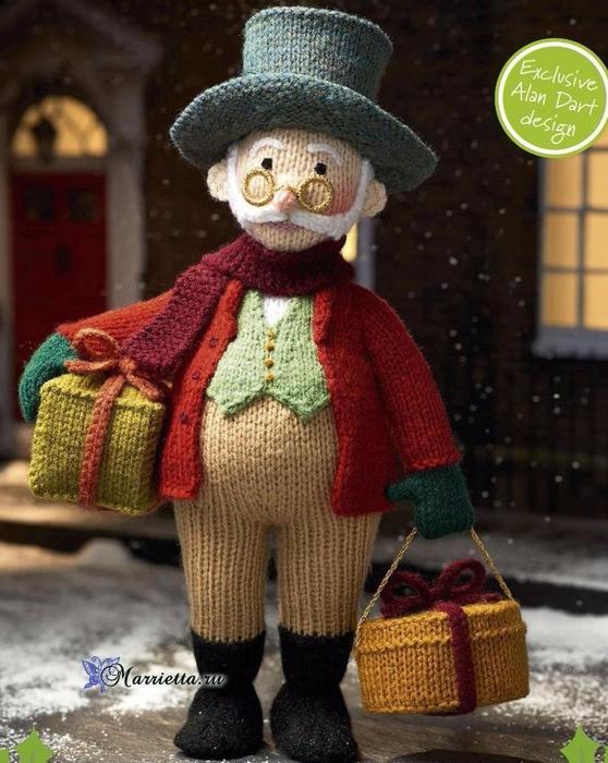 Вязаные игрушки от Алана Дарта. Дедушка Jolly (6) (558x700, 409Kb)